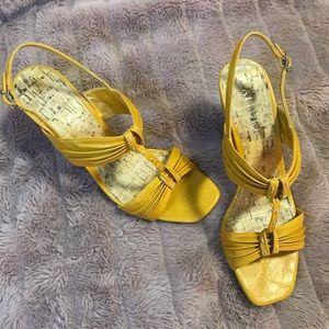 Yellow Allure Sandals